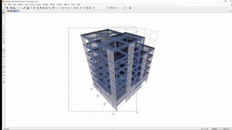 Working with CSI Italia VIS Concrete Design 12.1 full license