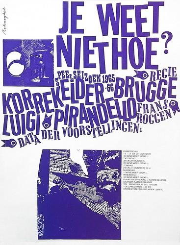 Jeanine Behaeghel, Poster, 1965