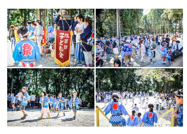 瀬戸市赤津地区のお祭り 続々と大目神社に集まる地域の人達・子供