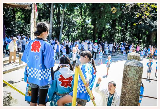大目神社の祭典(愛知県瀬戸市) 子供が主役