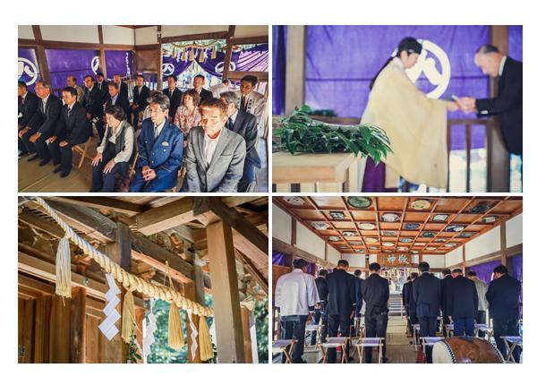 地域のお祭り 神事に参列する自治会役員 愛知県瀬戸市