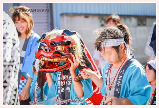 子ども獅子 地域のお祭り 愛知県瀬戸市