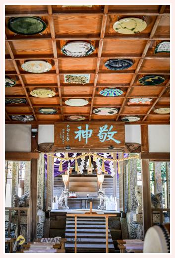 大目神社の社殿内 愛知県瀬戸市