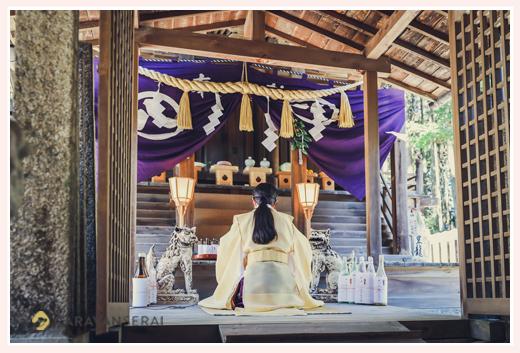 大目神社のお祭り 神事 祭殿 愛知県瀬戸市