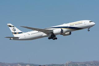 """4X-EDM - El Al Israel Airlines - Boeing 787-9 Dreamliner -  """"Jerusalem of Gold"""" special colours"""