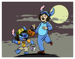 Stitch and Dustin - A Stranger Things Halloween