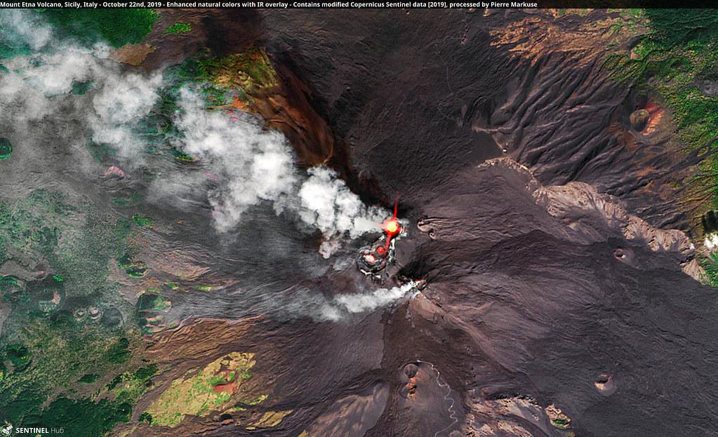 Mount Etna Volcano, Sicily, Italy - October 22nd, 2019