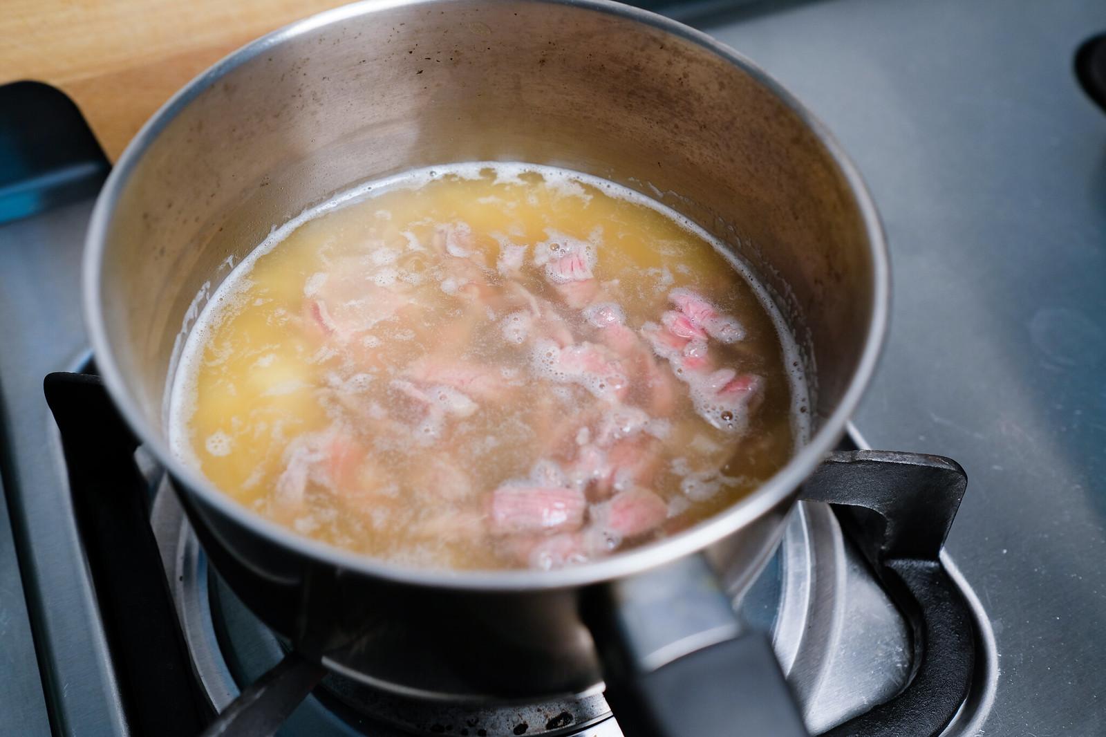 老協珍熬湯粥-牛肉蔬菜滑蛋-熬煮牛肉