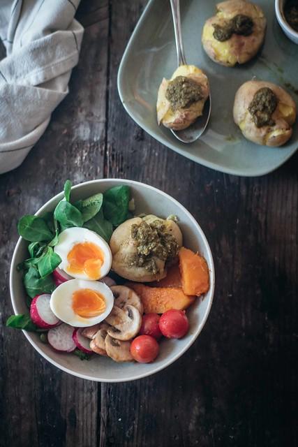 Patatas Asadas con Pesto