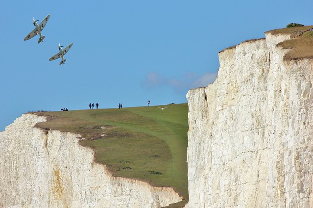 White Cliffs And Spitfires