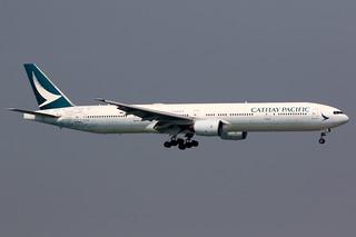 Cathay Pacific   Boeing 777-300   B-HNK   The Spirit of Hong Kong livery   Hong Kong International