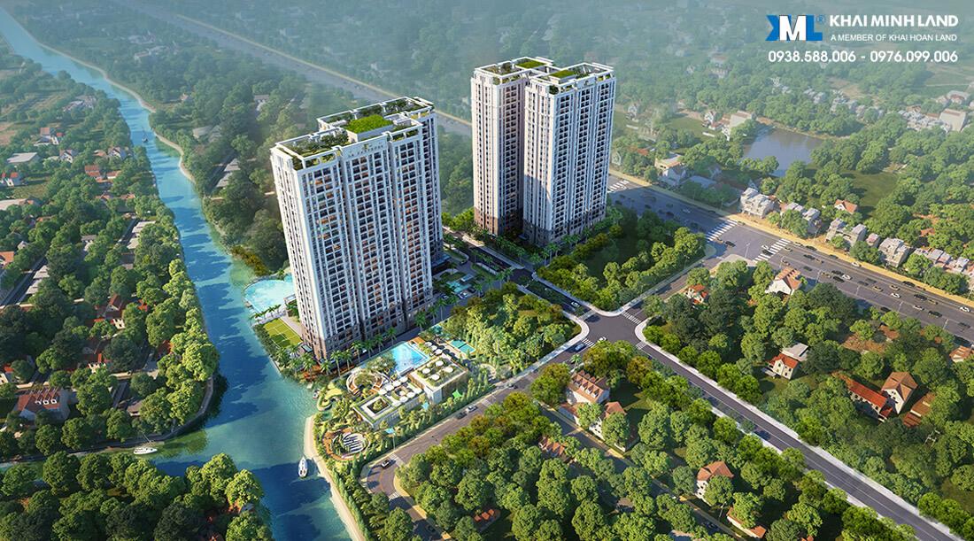 Phối cảnh tổng thể dự án căn hộ La Partenza Nhà Bè - Khải Minh Land - Khải Hoàn Land.