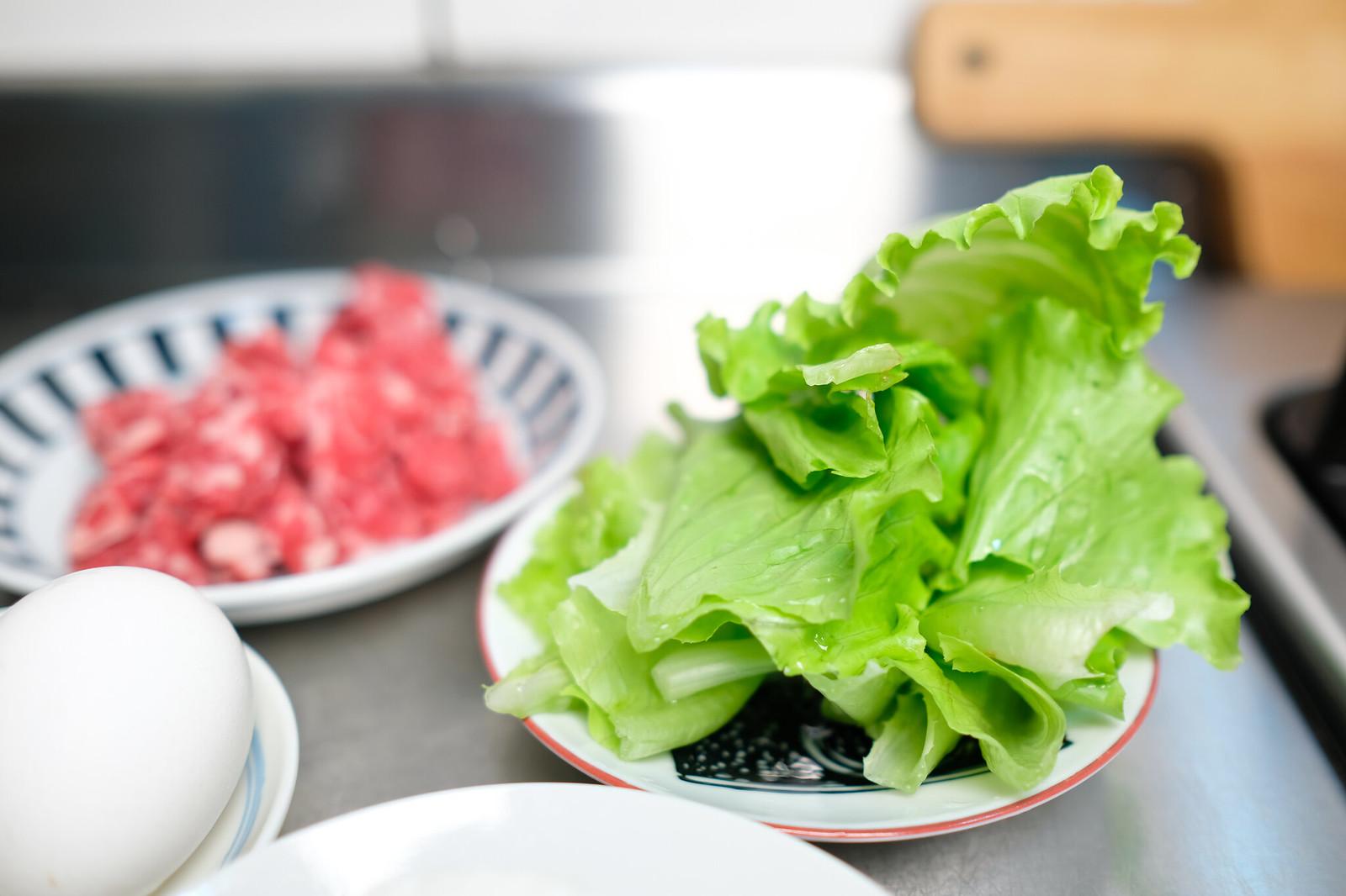 老協珍熬湯粥-牛肉蔬菜滑蛋-準備蔬菜
