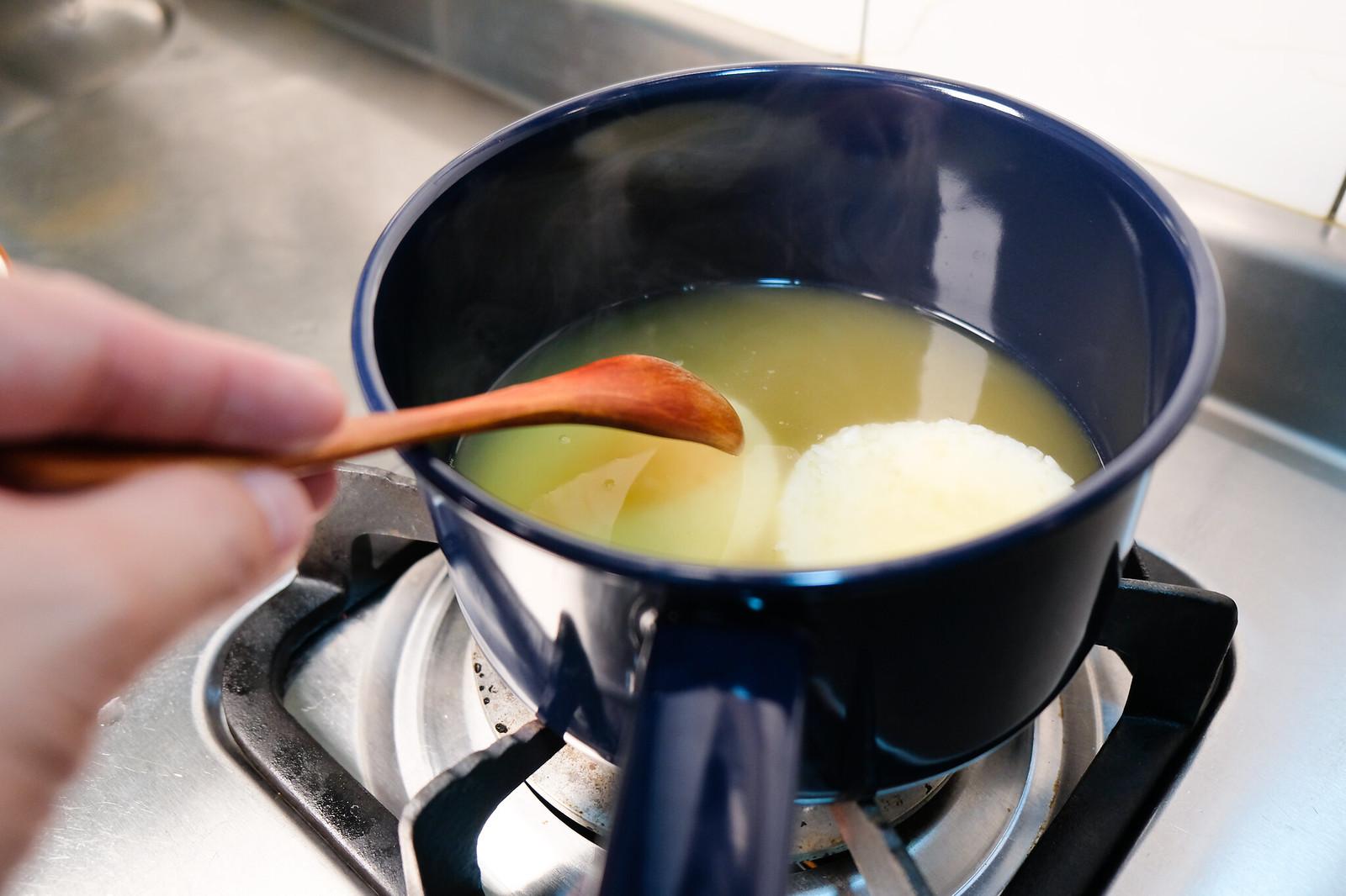 老協珍熬湯粥-放入米餅