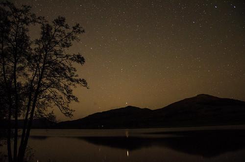 Arcturus over Loch Venachar