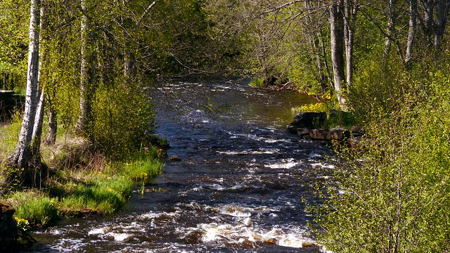 River Kullaanjoki at the Leineperi ironworks (Ulvila, 20190517)