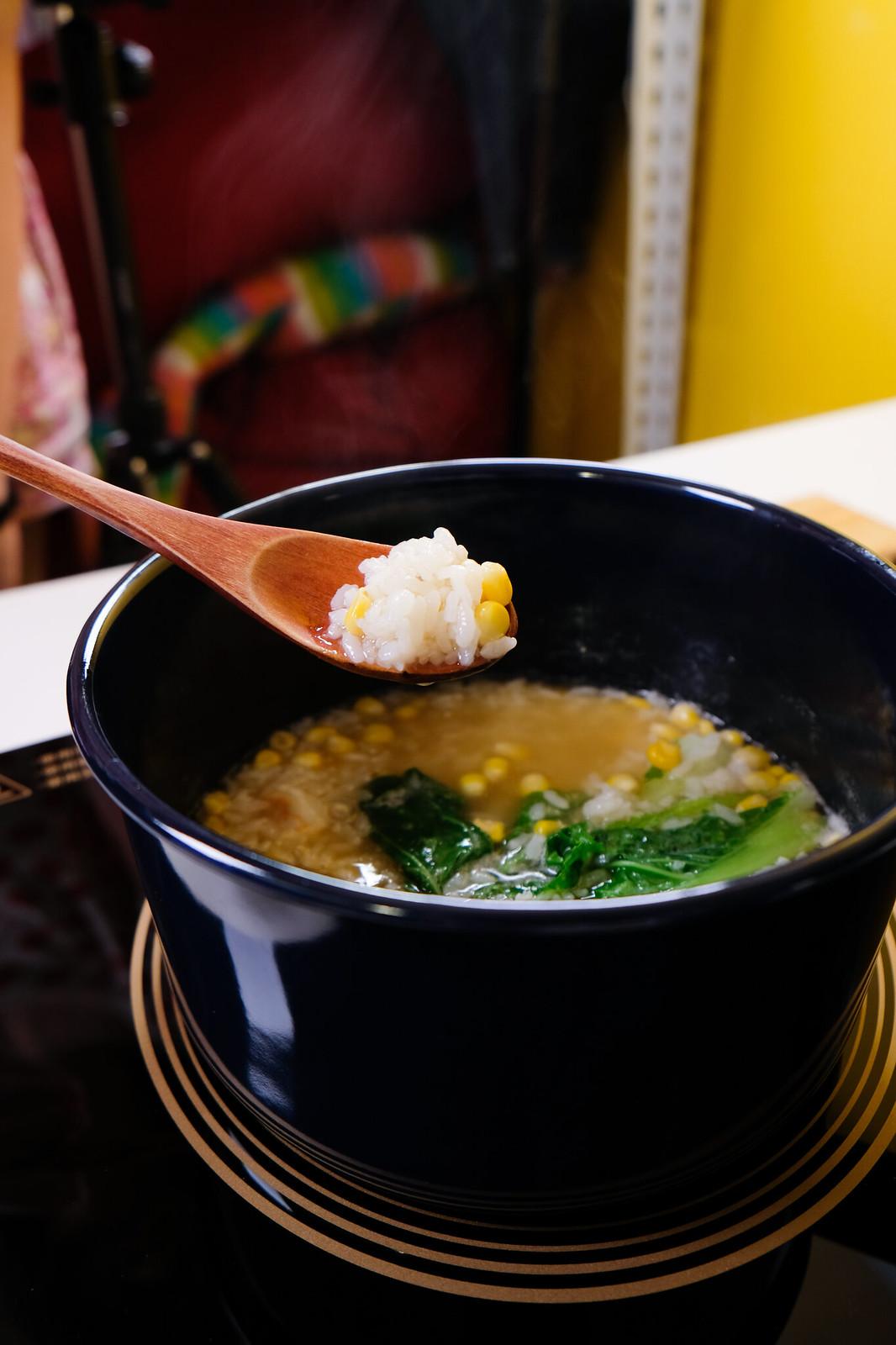 老協珍熬湯粥-玉米蔬菜蝦仁-熬煮
