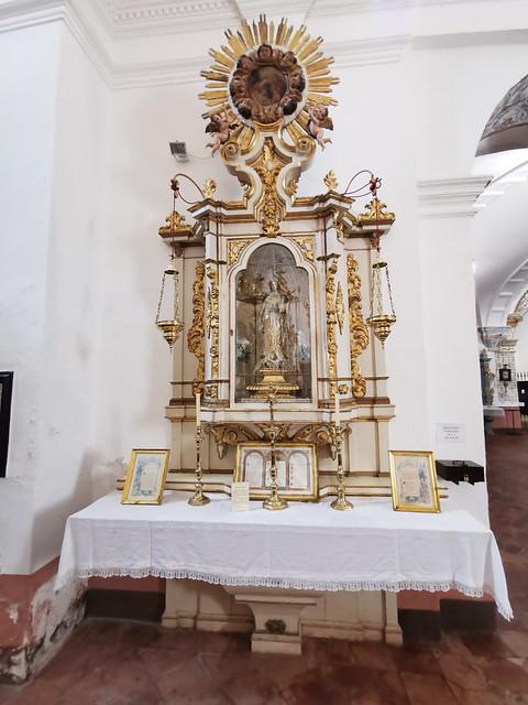 retablo capilla Inmaculada interior Iglesia del Carmen Antequera Malaga