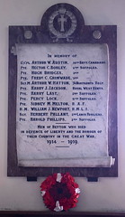 Men of Beyton who died in defence of Liberty and the honour of their country in the Great War