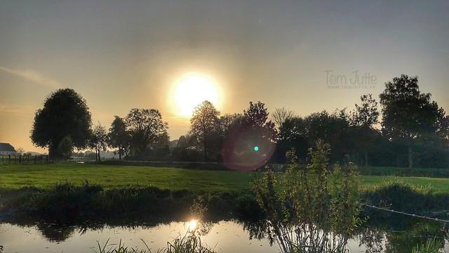 Autumn Sunset, Kromme Rijn, Odijk, Netherlands - 3055