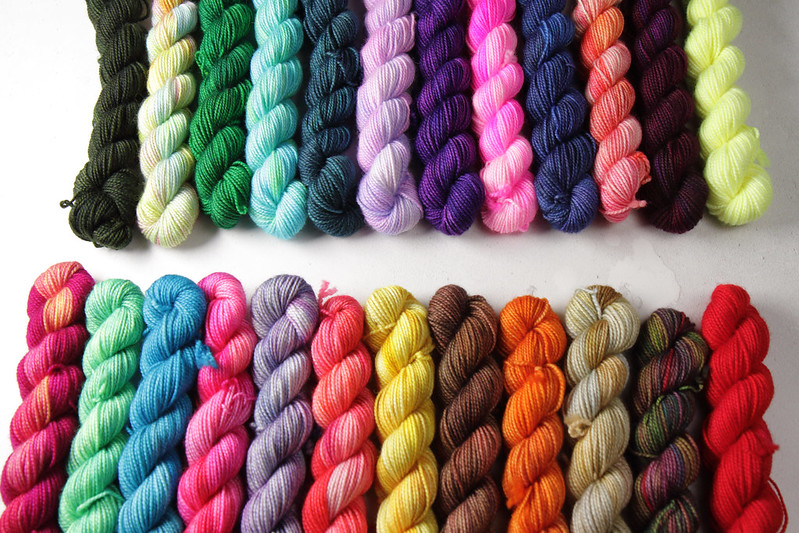 Yarn Advent Calendar miniskeins