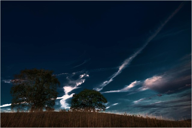 Lila Abendwolken