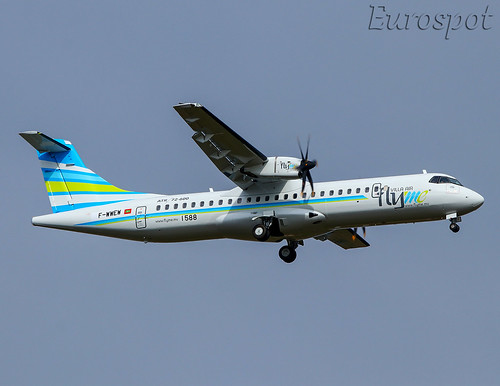 F-WWEW ATR72 Villa Air Fly Me | by @Eurospot 10.000.000 views