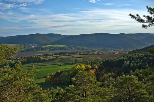 landschaft ort badblankenburg thüringen thuringia darktable autumn herbst fall