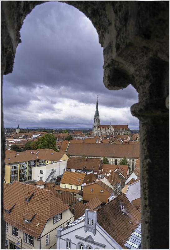 Mühlhausen - Blick vom Kirchturm ...