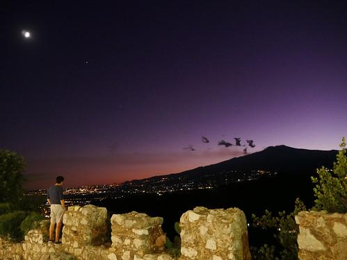 Moonrise over Etna