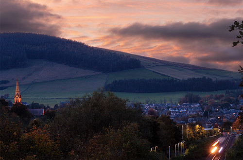 scotland unitedkingdom galashiels sunset twilight