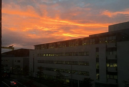 sunrise sky cloud titanicquarter belfast ireland northernireland