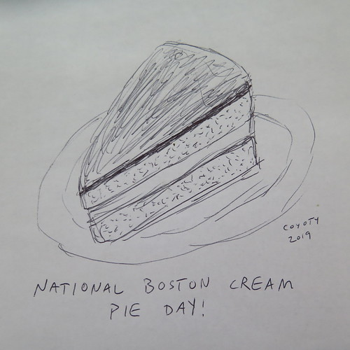 Inktober 23, 2019: National Boston Cream Pie Day