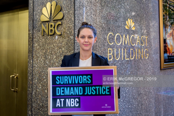 Activists and Sexual Abuse Survivors Demand Justice at NBC