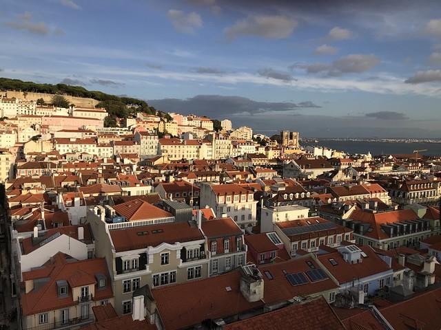 Final do dia em Lisboa