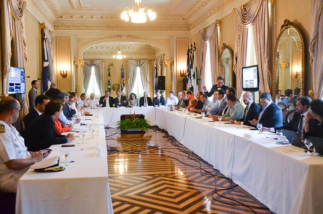 Reunião com o Governo do Estado e prefeituras do litoral sul e norte
