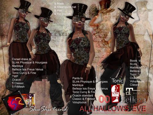 ShuShu ALL HALLOS 'EVE outfit - SLink Maitreya Belleza Classic