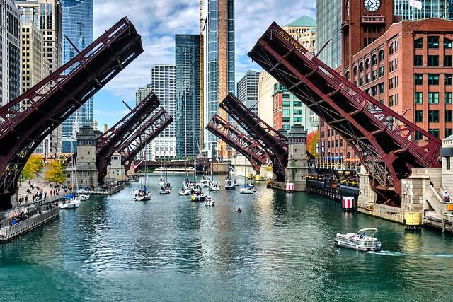 Three bridges in a row.