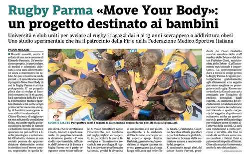 Gazzetta di Parma 23.10.19 - MOVE YOUR BODY