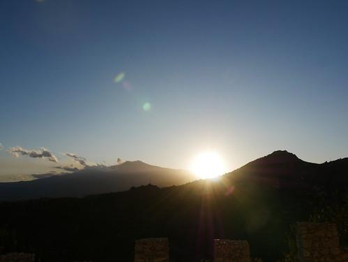 Sunset over Etna