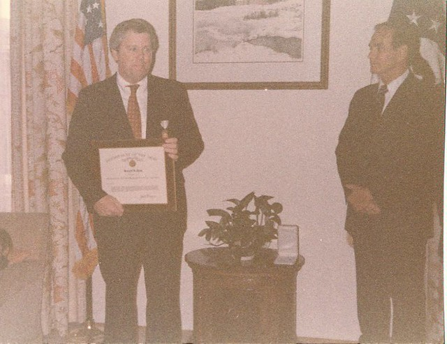 Receiving the Distinguished Service Award