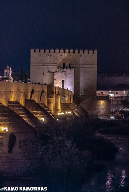 torre de calahorra, puente. noche