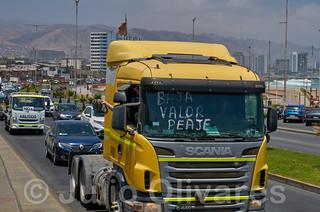 Protesta camioneros Chile