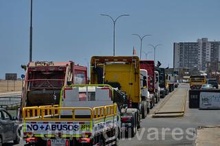 Protesta camioneros Chile 1