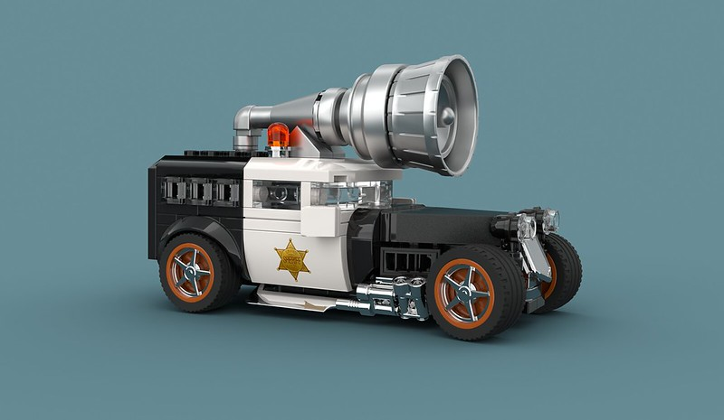 Outrageously over the top police street rod LEGO MOC
