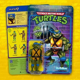 從包裝到人偶本體都是懷舊感滿載! Super7 ReAction Figures 系列《忍者龜》TMNT 3.75 吋吊卡玩具第一波