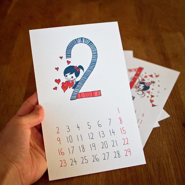 calendar 2020: size