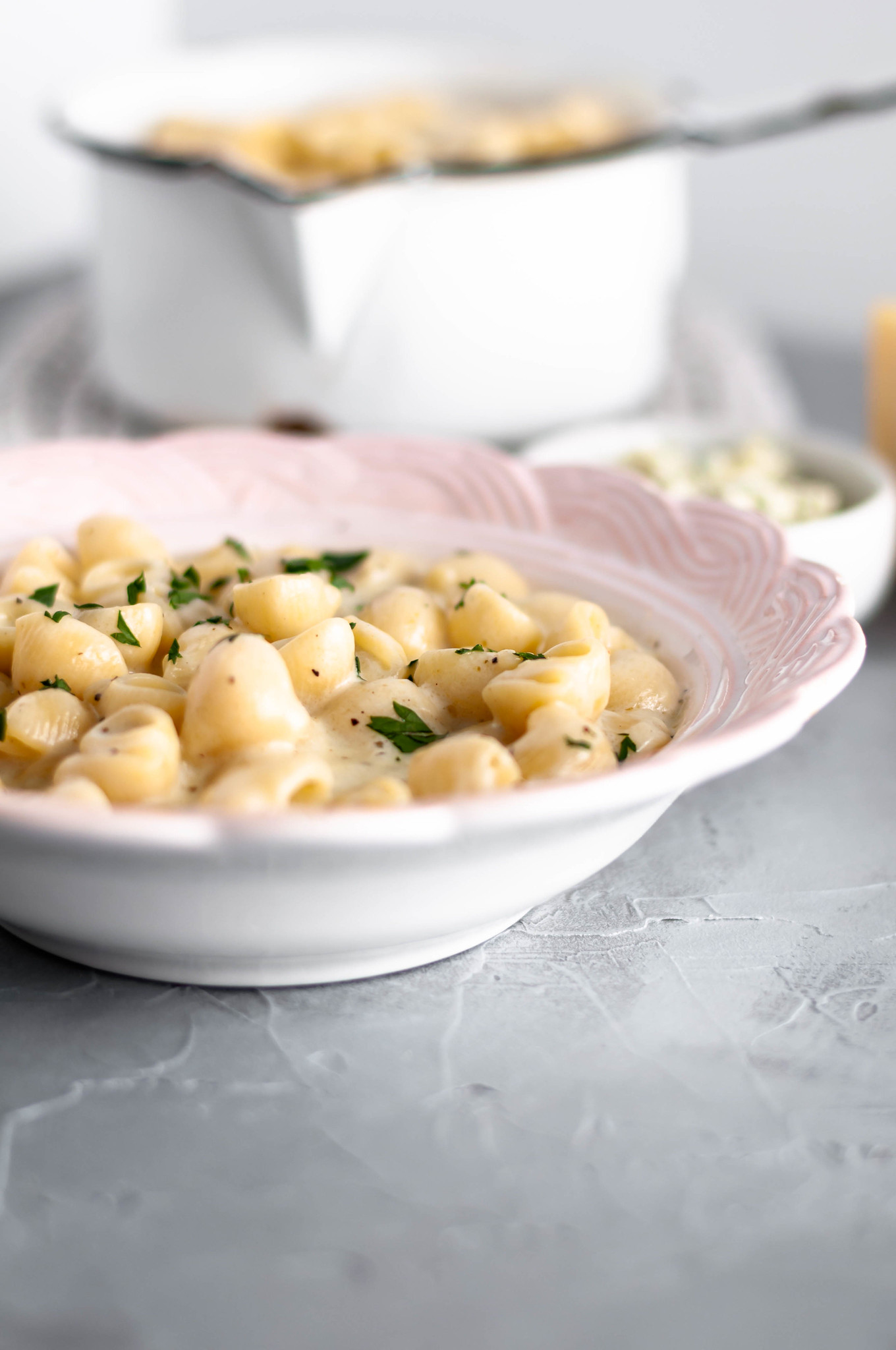 This Italian Mac and Cheese is the creamiest, cheesiest pasta around. Perfectly al dente pasta tossed in a sauce packed with several Italian cheeses and Italian seasonings.