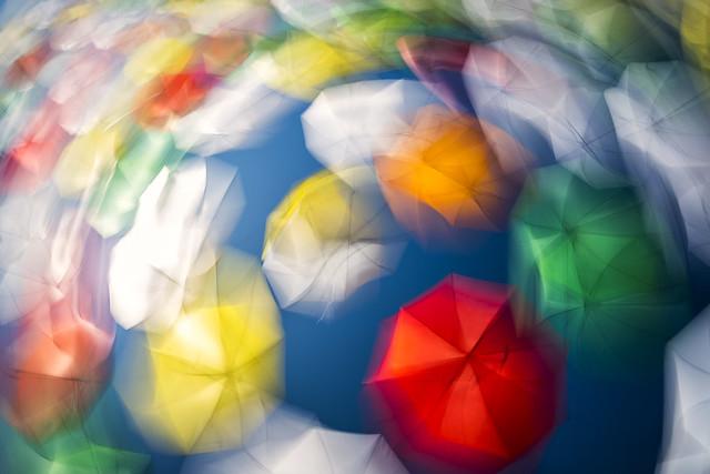 Tourbillon de parapluies