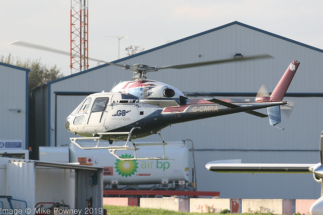 G-CMRA - 2006 build Eurocopter AS355N Ecureuil II, departing from Hawarden